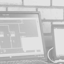 Gebouwbeheersysteem op laptop